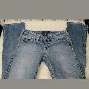 """Women's Silver Jeans Sz W 26 Suki Flap 17"""""""